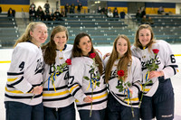 Girls Hockey Senior Night 2017